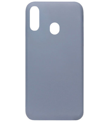 ADEL Premium Siliconen Back Cover Softcase Hoesje voor Samsung Galaxy A40 - Lavendel Paars Blauw