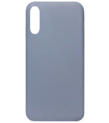 ADEL Premium Siliconen Back Cover Softcase Hoesje voor Samsung Galaxy A70(s) - Lavendel Paars Blauw