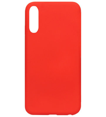 ADEL Premium Siliconen Back Cover Softcase Hoesje voor Samsung Galaxy A70(s) - Rood