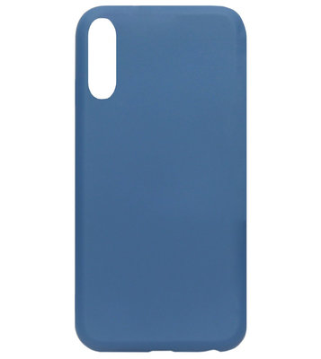 ADEL Premium Siliconen Back Cover Softcase Hoesje voor Samsung Galaxy A70(s) - Blauw