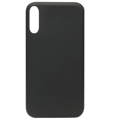 ADEL Premium Siliconen Back Cover Softcase Hoesje voor Samsung Galaxy A70(s) - Zwart