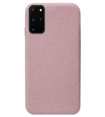 ADEL Tarwe Stro TPU Back Cover Softcase Hoesje voor Samsung Galaxy S20 Plus - Duurzaam afbreekbaar Milieuvriendelijk Roze