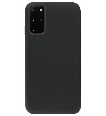 ADEL Tarwe Stro TPU Back Cover Softcase Hoesje voor Samsung Galaxy S20 Plus - Duurzaam afbreekbaar Milieuvriendelijk Zwart