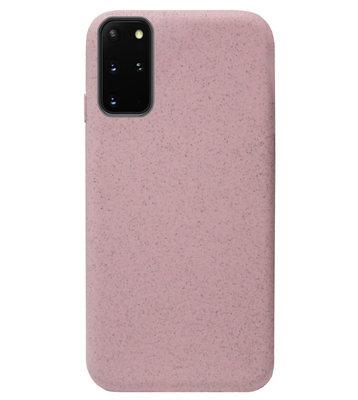ADEL Tarwe Stro TPU Back Cover Softcase Hoesje voor Samsung Galaxy S20 Ultra - Duurzaam afbreekbaar Milieuvriendelijk Roze