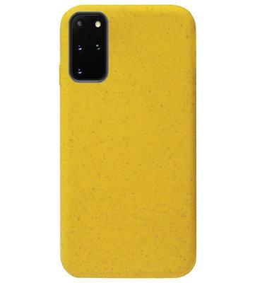 ADEL Tarwe Stro TPU Back Cover Softcase Hoesje voor Samsung Galaxy S20 Ultra - Duurzaam afbreekbaar Milieuvriendelijk Geel