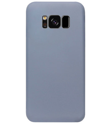 ADEL Premium Siliconen Back Cover Softcase Hoesje voor Samsung Galaxy S8 Plus - Lavendel Blauw