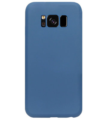 ADEL Premium Siliconen Back Cover Softcase Hoesje voor Samsung Galaxy S8 Plus - Blauw