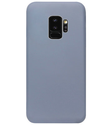 ADEL Premium Siliconen Back Cover Softcase Hoesje voor Samsung Galaxy S9 - Lavendel Blauw