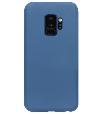 ADEL Premium Siliconen Back Cover Softcase Hoesje voor Samsung Galaxy S9 - Blauw