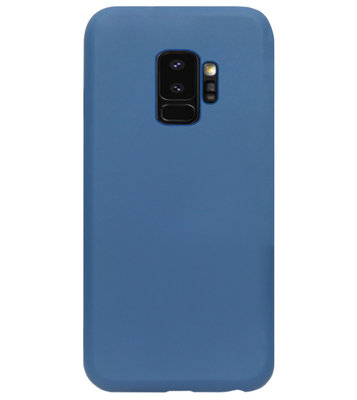 ADEL Premium Siliconen Back Cover Softcase Hoesje voor Samsung Galaxy S9 Plus - Blauw