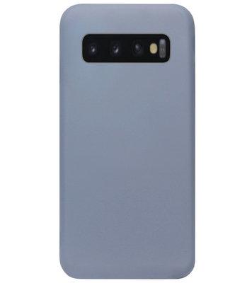 ADEL Premium Siliconen Back Cover Softcase Hoesje voor Samsung Galaxy S10 - Lavendel Blauw