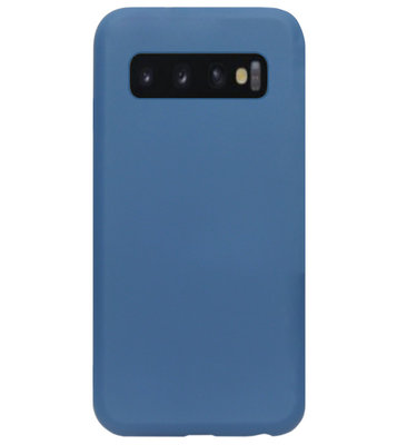 ADEL Premium Siliconen Back Cover Softcase Hoesje voor Samsung Galaxy S10 - Blauw