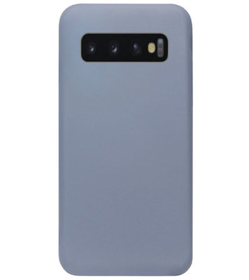 ADEL Premium Siliconen Back Cover Softcase Hoesje voor Samsung Galaxy S10 Plus - Lavendel Blauw