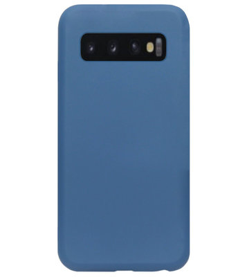 ADEL Premium Siliconen Back Cover Softcase Hoesje voor Samsung Galaxy S10 Plus - Blauw