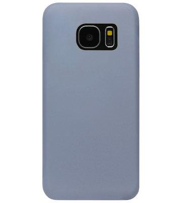 ADEL Premium Siliconen Back Cover Softcase Hoesje voor Samsung Galaxy S7 Edge - Lavendel Blauw