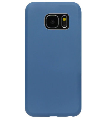 ADEL Premium Siliconen Back Cover Softcase Hoesje voor Samsung Galaxy S7 Edge - Blauw