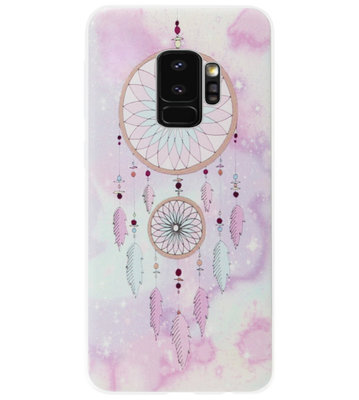 ADEL Siliconen Back Cover Softcase Hoesje voor Samsung Galaxy S9 Plus - Dromenvanger Roze