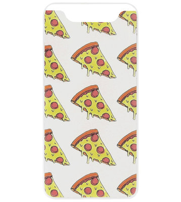 ADEL Siliconen Back Cover Softcase Hoesje voor Samsung Galaxy A80/ A90 - Pizza Junkfood