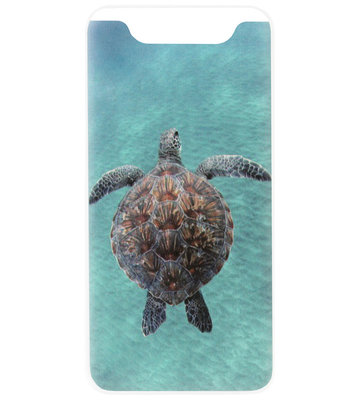 ADEL Siliconen Back Cover Softcase Hoesje voor Samsung Galaxy A80/ A90 - Schildpad Blauw