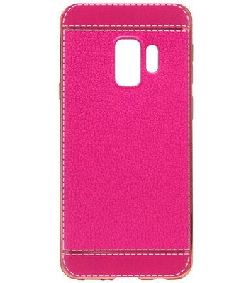 ADEL Kunstleren Back Cover Hoesje voor Samsung Galaxy S9 - Roze