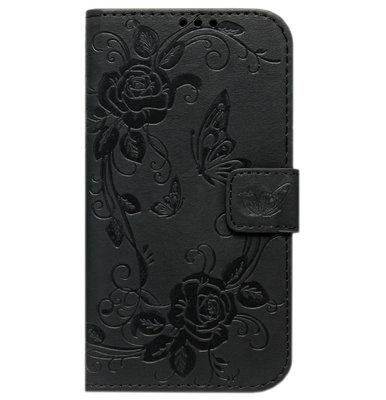 ADEL Kunstleren Book Case Hoesje voor Samsung Galaxy S9 - Vlinder Zwart