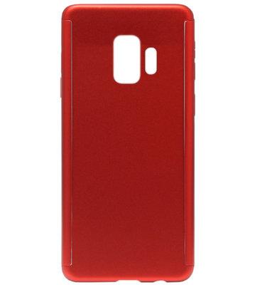 ADEL Kunststof Back Cover Hardcase Hoesje met Screenprotector voor Samsung Galaxy S9 - Rood
