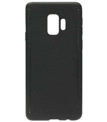 ADEL Kunststof Back Cover Hardcase Hoesje met Screenprotector voor Samsung Galaxy S9 - Zwart