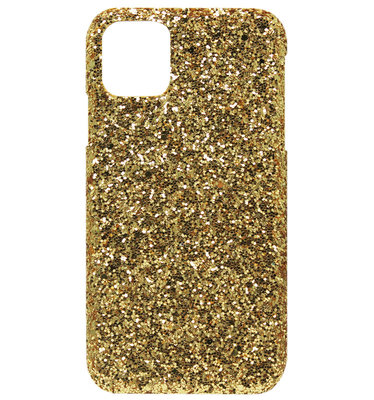 ADEL Kunststof Back Cover Hardcase hoesje voor iPhone 11 - Bling Bling Goud