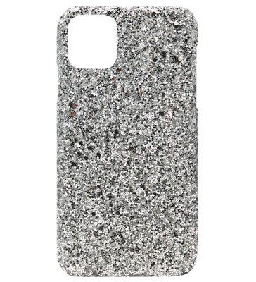 ADEL Kunststof Back Cover Hardcase hoesje voor iPhone 11 - Bling Bling Zilver