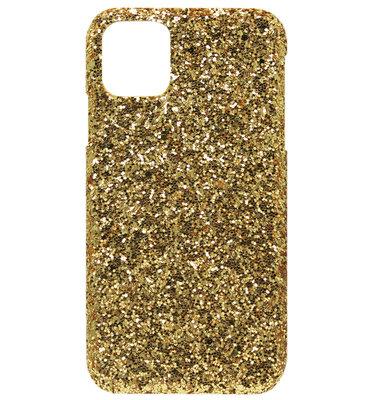 ADEL Kunststof Back Cover Hardcase hoesje voor iPhone 11 Pro - Bling Bling Goud