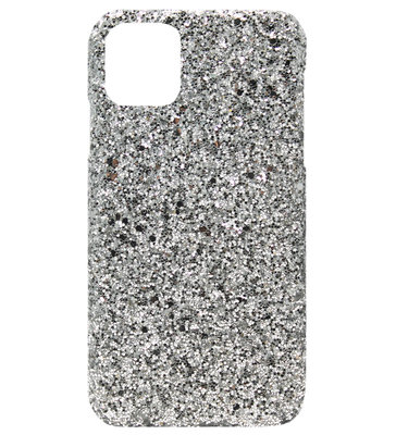ADEL Kunststof Back Cover Hardcase hoesje voor iPhone 11 Pro - Bling Bling Zilver