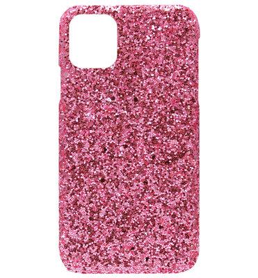 ADEL Kunststof Back Cover Hardcase hoesje voor iPhone 11 - Bling Bling Roze