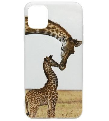 ADEL Siliconen Back Cover Softcase hoesje voor iPhone 11 - Giraf