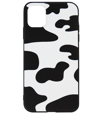 ADEL Siliconen Back Cover Softcase hoesje voor iPhone 11 Pro - Koeienhuid