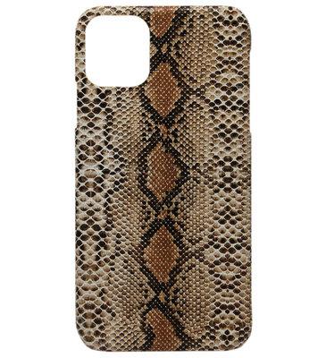 ADEL Kunststof Back Cover Hardcase hoesje voor iPhone 11 Pro - Slangen Bruin