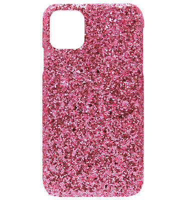 ADEL Kunststof Back Cover Hardcase hoesje voor iPhone 11 Pro Max - Bling Bling Roze