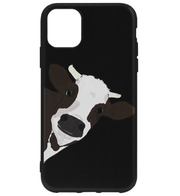 ADEL Siliconen Back Cover Softcase hoesje voor iPhone 11 Pro Max - Koe