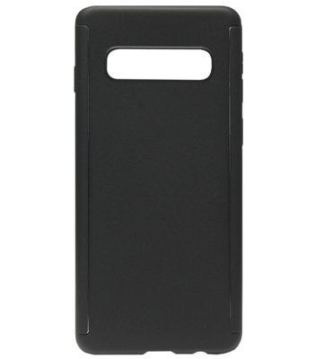 ADEL Kunststof Back Cover Hoesje met Screenprotector voor Samsung Galaxy S10 - Zwart