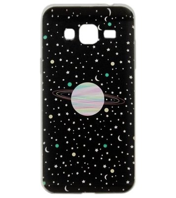 ADEL Siliconen Back Cover Softcase hoesje voor Samsung Galaxy J3 (2015)/ J3 (2016) - Heelal Universum