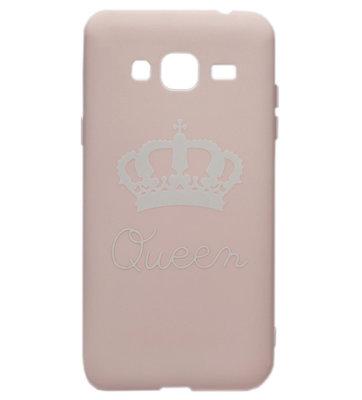 ADEL Siliconen Back Cover Softcase hoesje voor Samsung Galaxy J3 (2015)/ J3 (2016) - Queen Roze