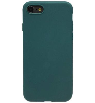 ADEL Siliconen Back Cover hoesje voor iPhone SE (2020)/ 8/ 7 - Groen