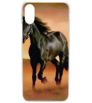 ADEL Kunststof Back Cover Hoesje voor iPhone XS/X - Paarden