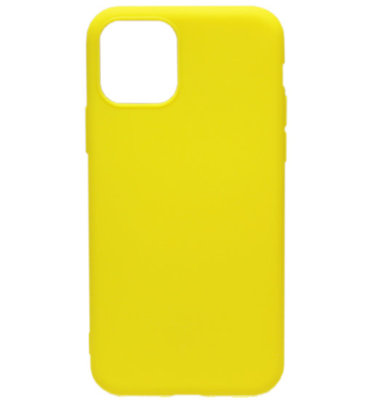 ADEL Siliconen Back Cover hoesje voor iPhone 11 Pro Max - Geel