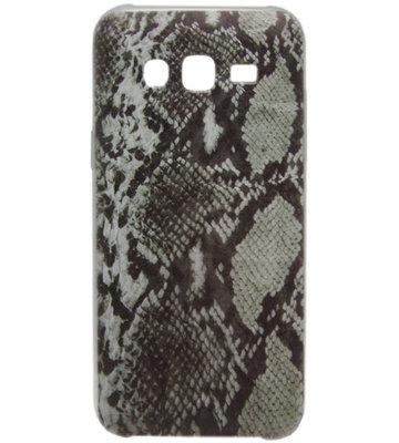 ADEL Siliconen Back Cover Hoesje voor Samsung Galaxy J7 (2015) - Slangenhuid