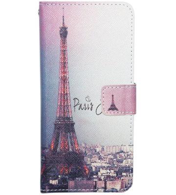 ADEL Kunstleren Book Case Hoesje voor Samsung Galaxy J7 (2015) - Parijs Eiffeltoren