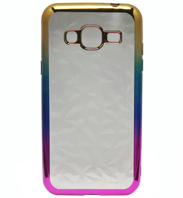ADEL Siliconen Softcase Back Cover hoesje voor Samsung Galaxy J3 (2015)/ J3 (2016) - Bling Bling Diamanten
