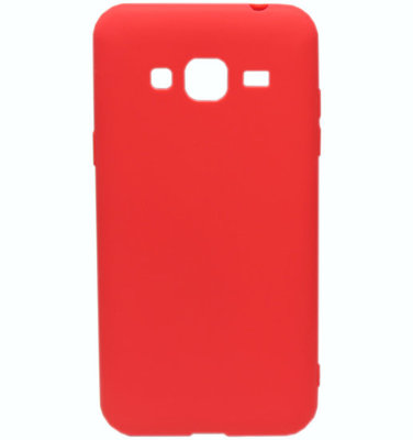 ADEL Siliconen Softcase Back Cover hoesje voor Samsung Galaxy J3 (2015)/ J3 (2016) - Rood
