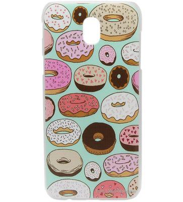 ADEL Kunststof Back Cover Hardcase Hoesje voor Samsung Galaxy J7 (2017) - Donuts
