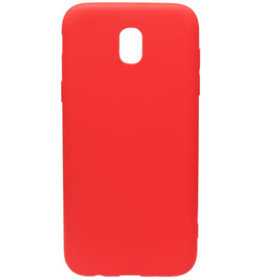 ADEL Siliconen Back Cover Softcase Hoesje voor Samsung Galaxy J7 (2017) - Rood