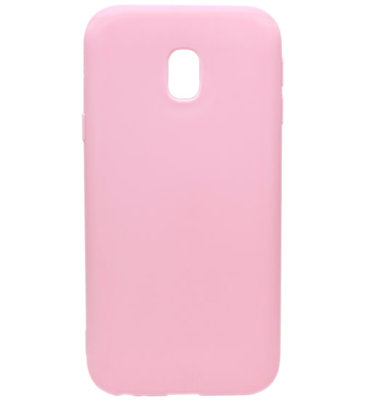 ADEL Siliconen Back Cover Softcase Hoesje voor Samsung Galaxy J7 (2017) - Roze